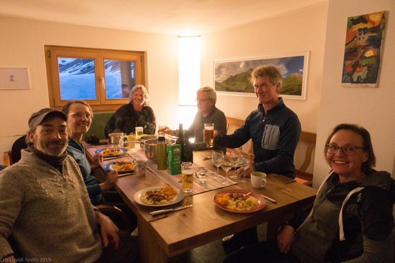 Dinner timer (Ski tourinig Avers March 2019)