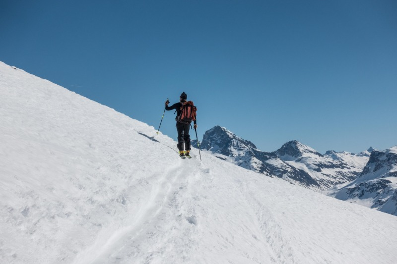 Elmar continues (Ski touring Avers March 2019)