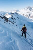 Elmar skiing (Ski tourinig Avers March 2019)