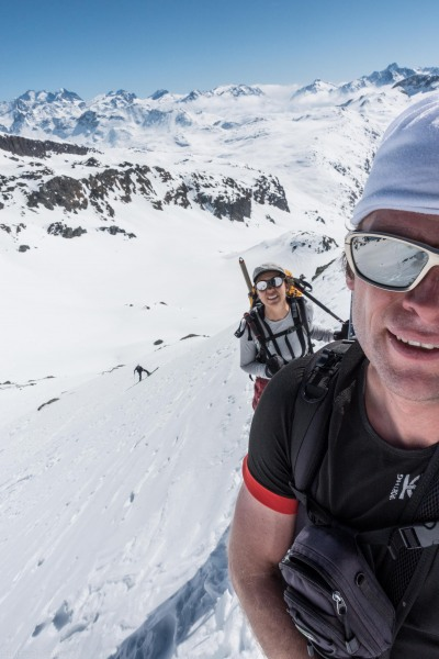 Getting steeper (Ski touring Avers March 2019)