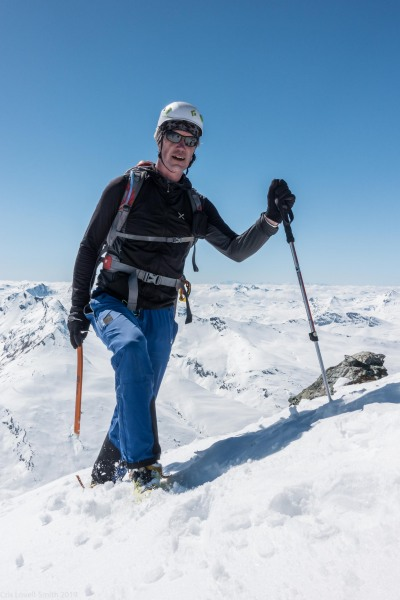 Roland on the summit (Ski touring Avers March 2019)