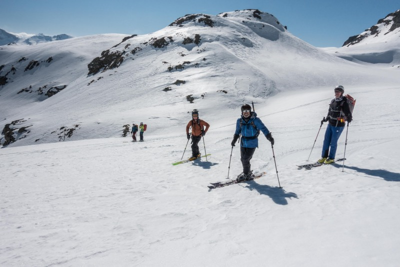 The team (Ski touring Avers March 2019)