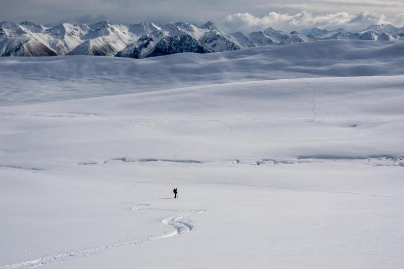Craig waiting (Ski Touring Camp Stream Hut Aug 2021)