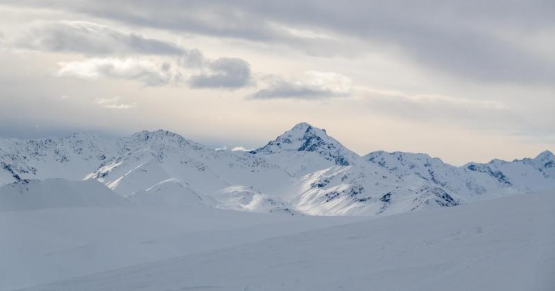 Beginning to cloud over (Ski Touring Camp Stream Hut Aug 2021)
