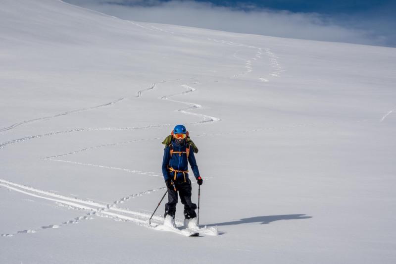 Craig skiing (Ski Touring Camp Stream Hut Aug 2021)
