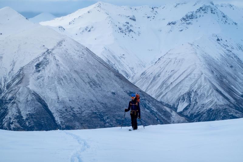 Craig skinning (Ski Touring Camp Stream Hut Aug 2021)