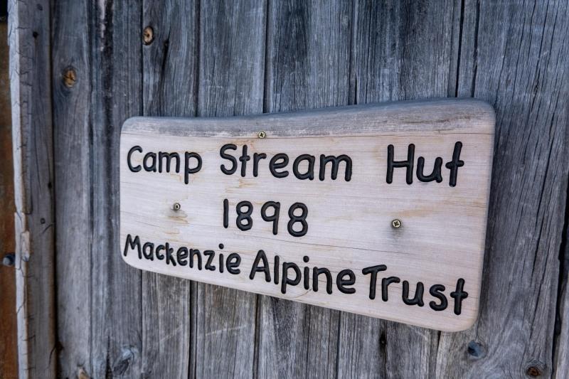 Hut sign (Ski Touring Camp Stream Hut Aug 2021)