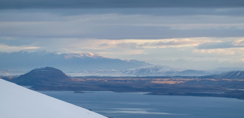 Looking back over Lake Tekapo (Ski Touring Camp Stream Hut Aug 2021)