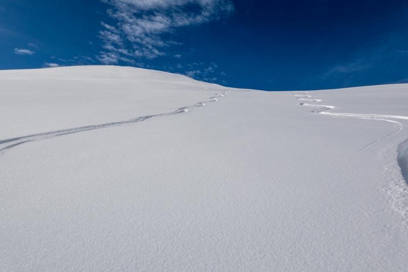 Our tracks (Ski Touring Camp Stream Hut Aug 2021)