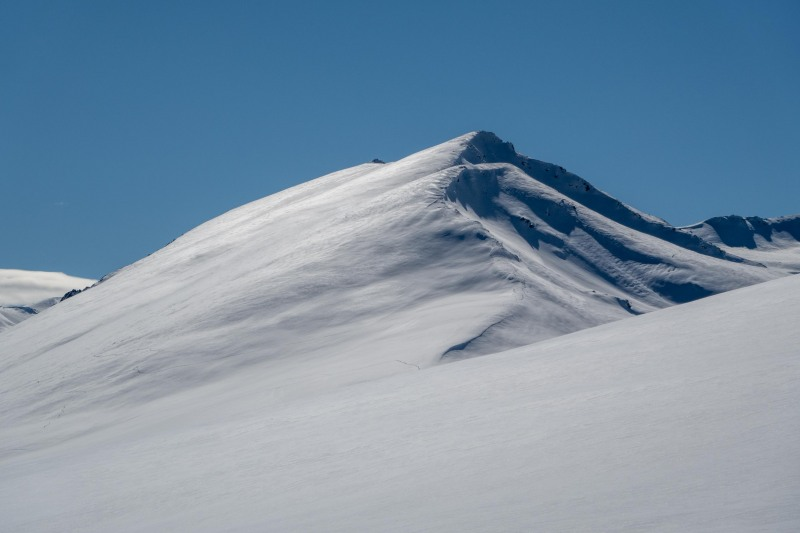 Snowy mountains (Ski Touring Camp Stream Hut Aug 2021)