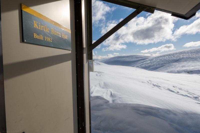 At the hut (Ski touring Kirtle Burn Hut August 2021)