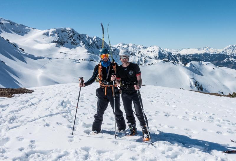At the summit of Zwölferköpfl (Skitouring Kuehtai March 2019)