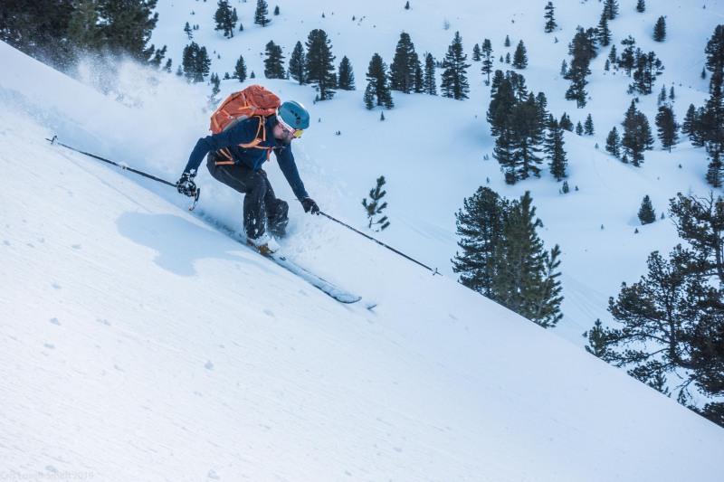 Craig cutting up the snow (Skitouring Kuehtai March 2019)