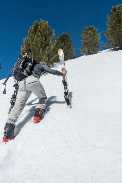 Johannes and his skis (Skitouring Kuehtai March 2019)