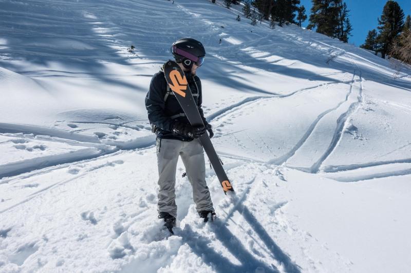 Johannes loses a ski (Skitouring Kuehtai March 2019)