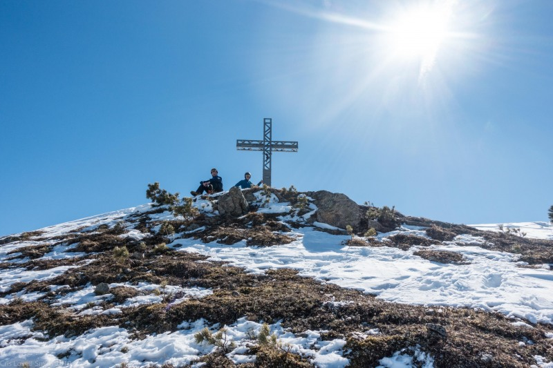 Looking back to the summit (Skitouring Kuehtai March 2019)