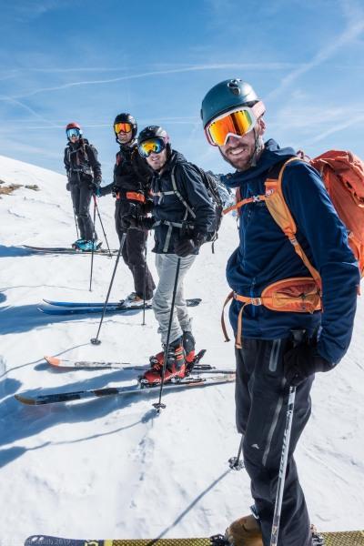 Posing near the summit of Karlesspitze (Skitouring Kuehtai March 2019)