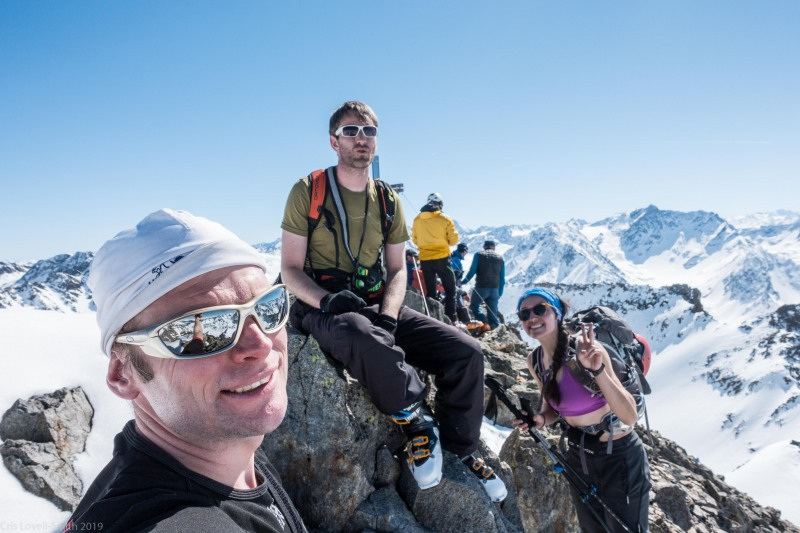 Us at the summit of Sulzkogel (Skitouring Kuehtai March 2019)