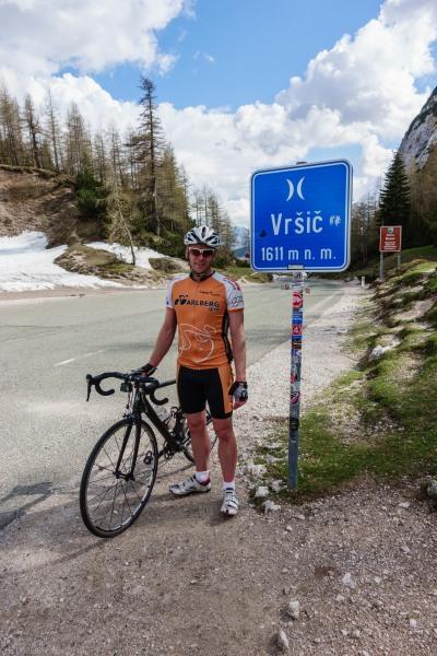 Cris at the Vrsic Pass (Slovenia 2019)