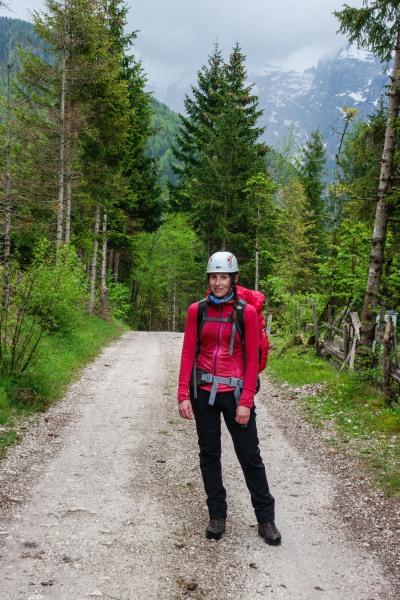 Leonie walking (Slovenia 2019)