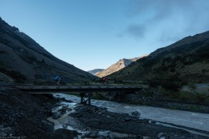 Crossing a bridge (Cycling St James)
