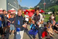 Chris with his prize (Swiss O Week, Switzerland)