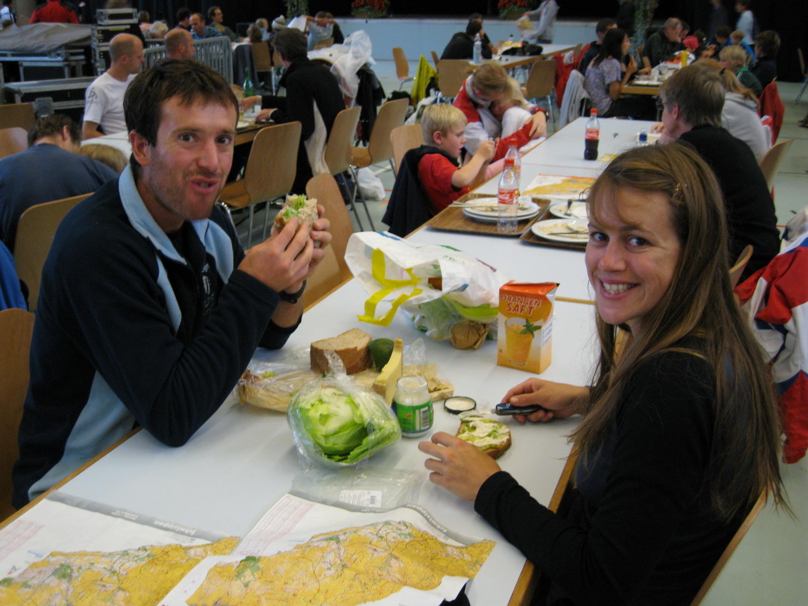 Eating at the events centre (Swiss O Week, Switzerland)