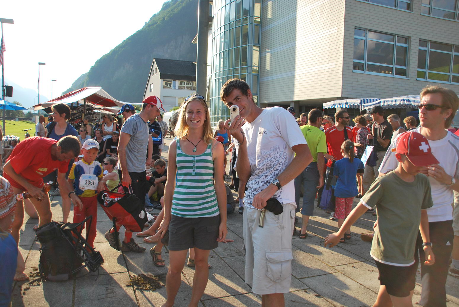 Ed and Abbie at prize giving (Swiss O Week, Switzerland)