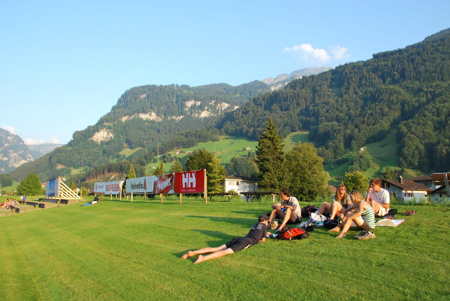 Lazing on the grass (Swiss O Week, Switzerland)