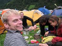 Cooking dinner (Swiss O Week, Switzerland)