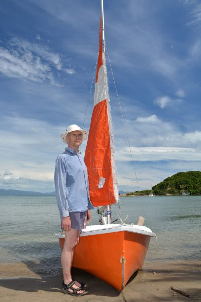 A stern man and his boat again (Takaka 2013)