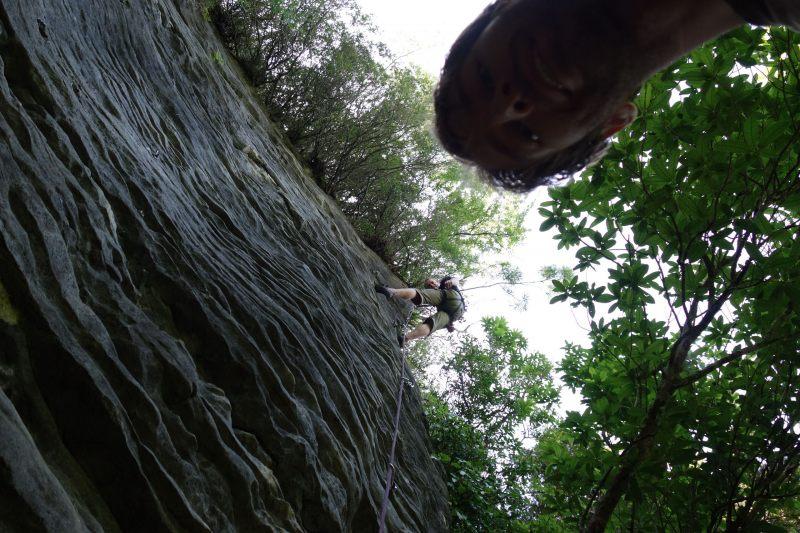 Climbing at Paynes (Takaka 2013)