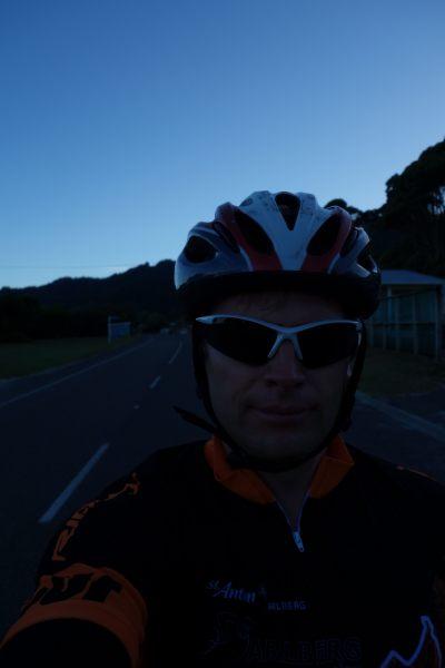 Cris goes cycling (Takaka 2013)