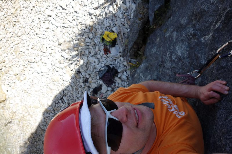 Cris on a nice easy climb (Takaka 2013)