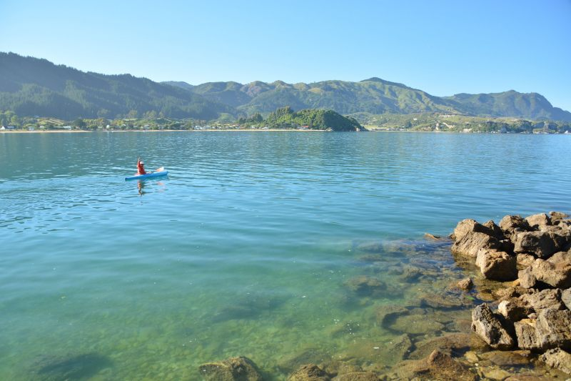Dad heads for the mainland 4 (Takaka 2013)
