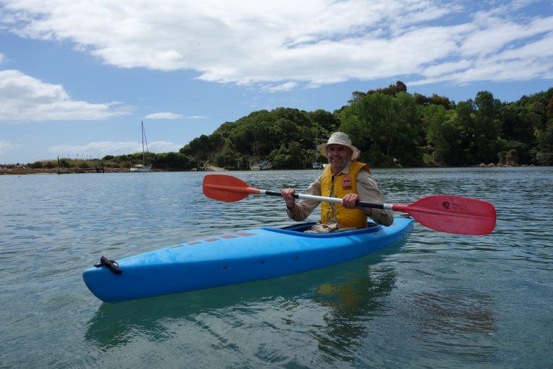 Dad in kayak (Takaka 2013)