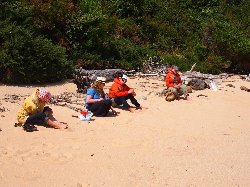 Family on the beach again (Takaka 2013)