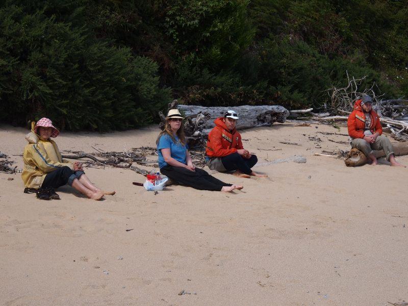 Family on the beach (Takaka 2013)