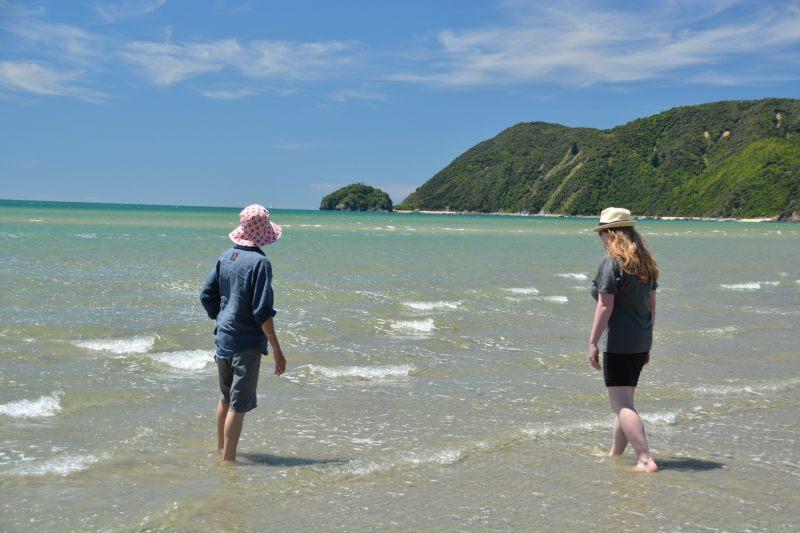 Holly and Mum paddling (Takaka 2013)