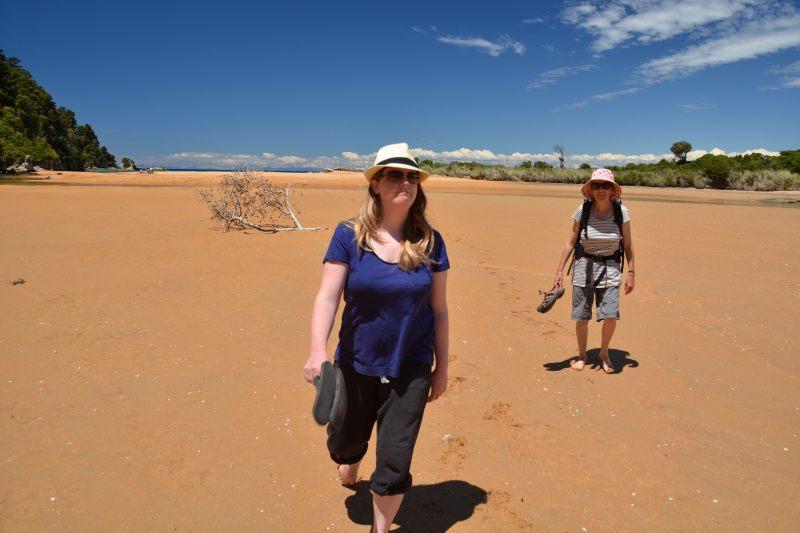 Holly and Mum walking (Takaka 2013)