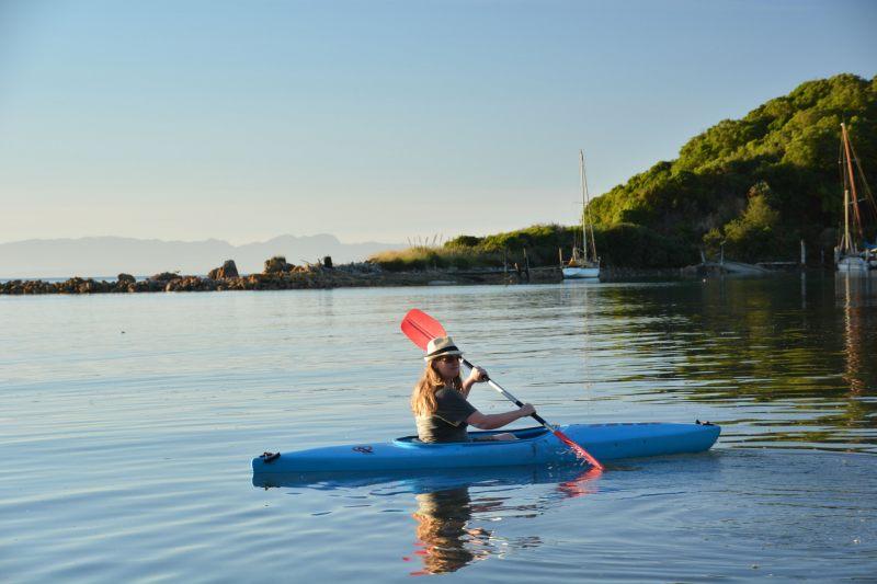 Holly paddles off into the lagoon (Takaka 2013)