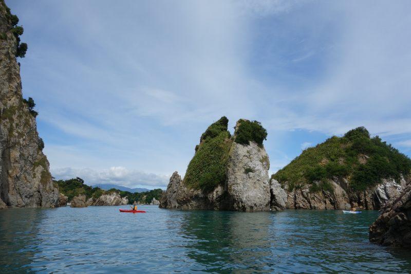 Kayaks on the water (Takaka 2013)