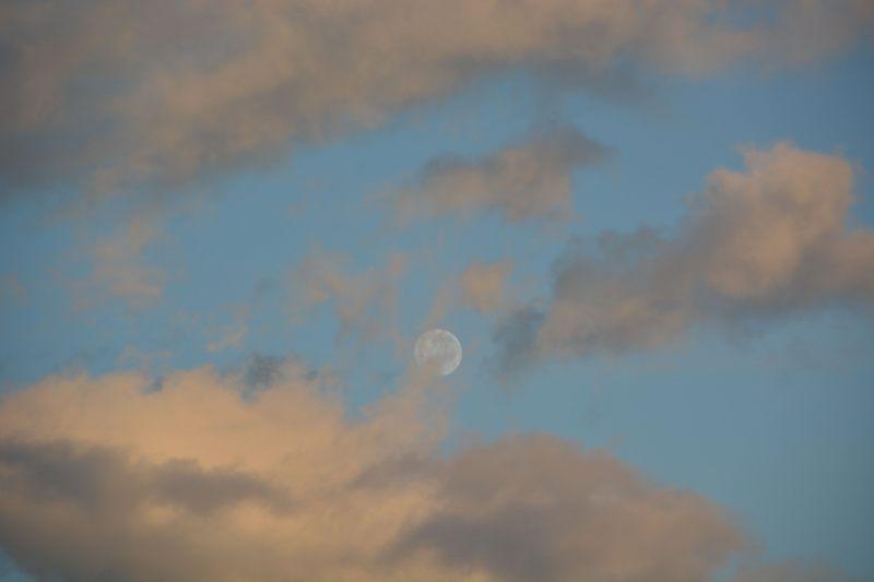 Moon at sunset (Takaka 2013)