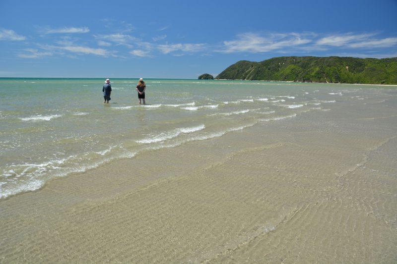 Mum and Holly paddling in Wainui Inlet (Takaka 2013)