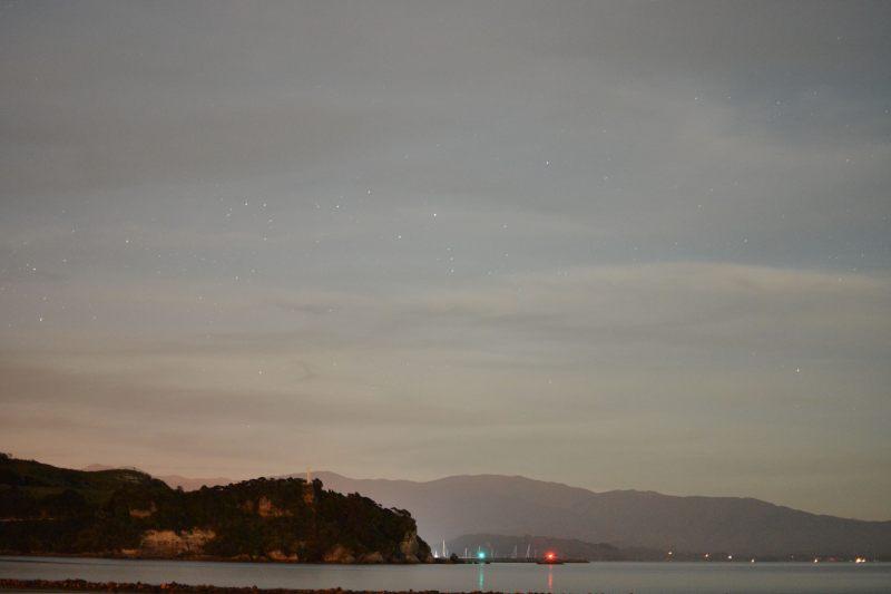 Night sky at Ligar Bay 3 (Takaka 2013)