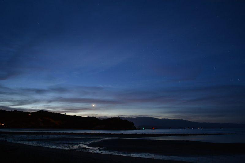 Night sky at Ligar Bay (Takaka 2013)