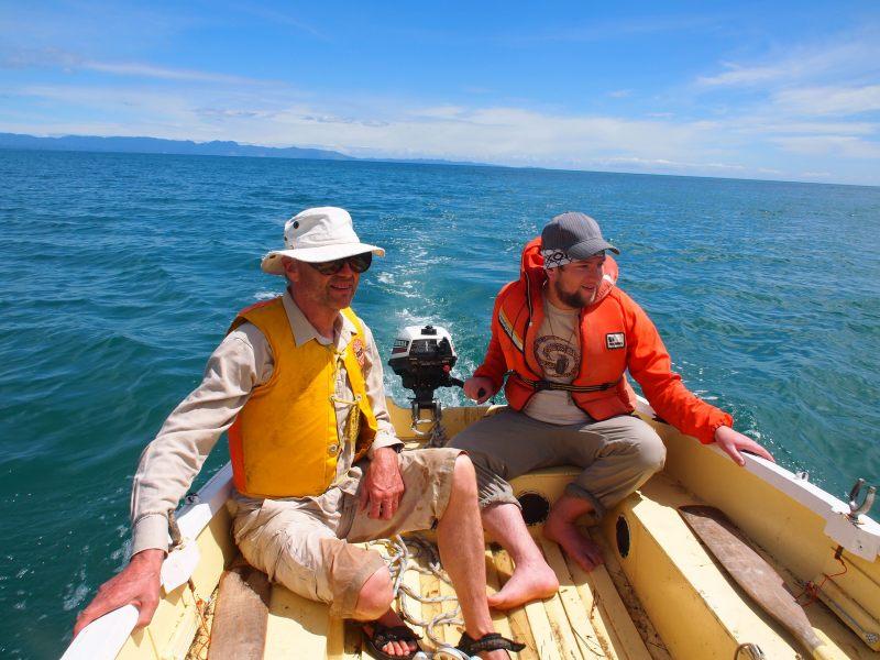 Toby and dad patroling the sea (Takaka 2013)