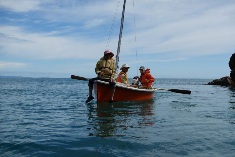 Toby captaining his ship (Takaka 2013)