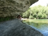 Brendan climbs to the water hole (Takaka 2013)