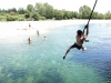 Brendan swinging at paynes ford swimming hole (Takaka 2013)
